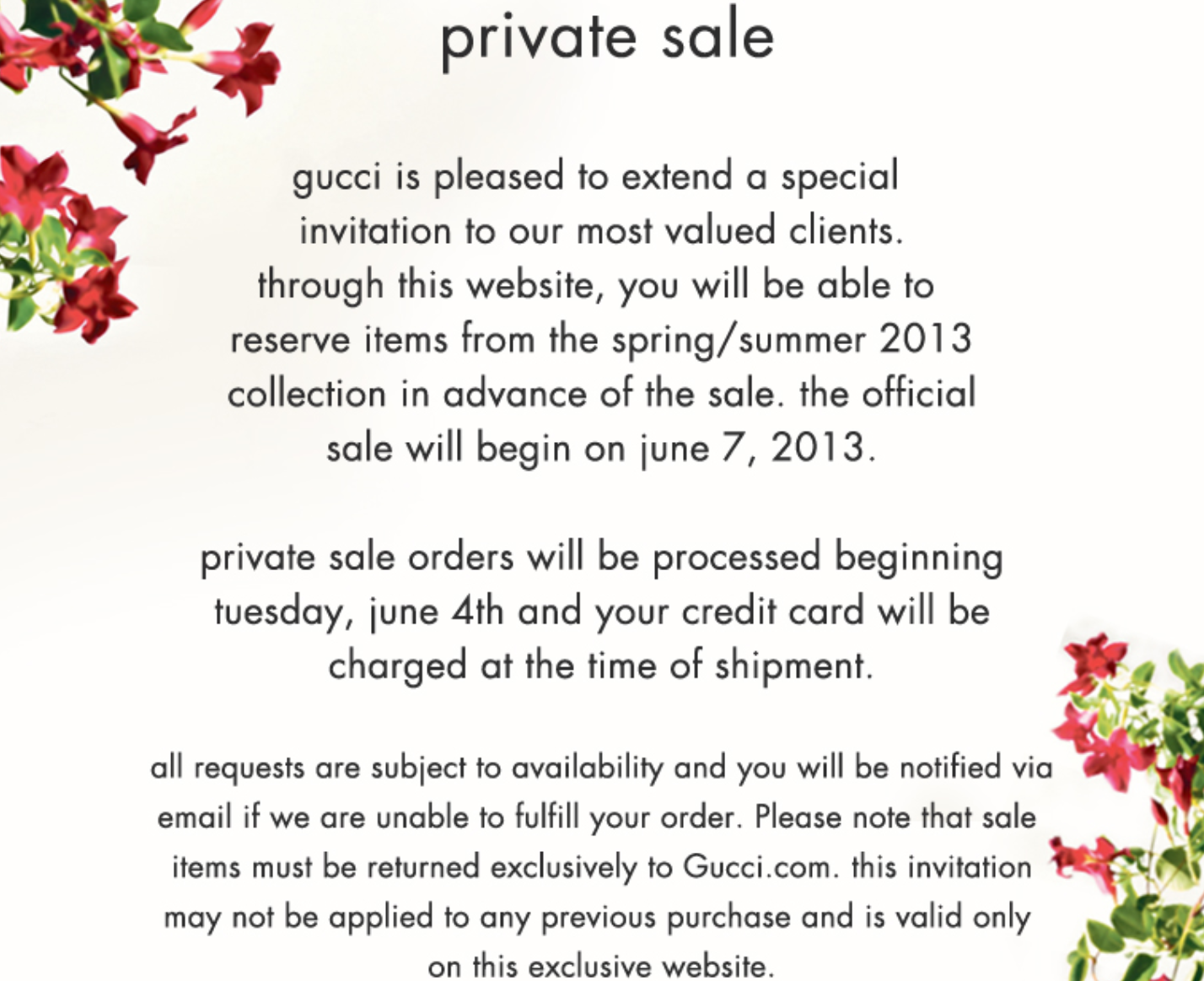 Madison Avenue Spy: Gucci Sale Arrives Fashionably Late