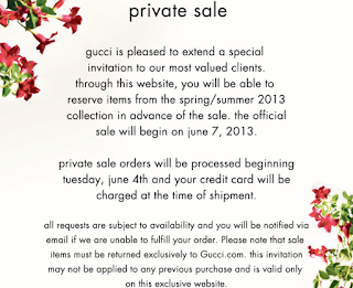 Gucci Sale Arrives Fashionably Late