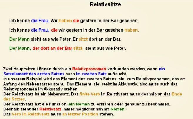 grammatik relativstze - Relativsatze Beispiele