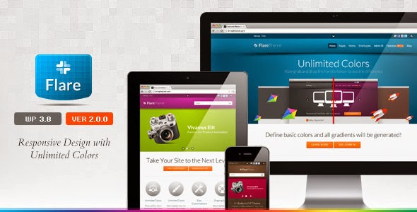 Flare Responsive Business & Portfolio WP Theme Version 1.5.1 free