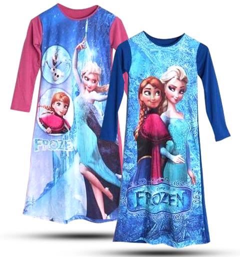 Model Baju Gamis Anak Frozen Terbaru Update