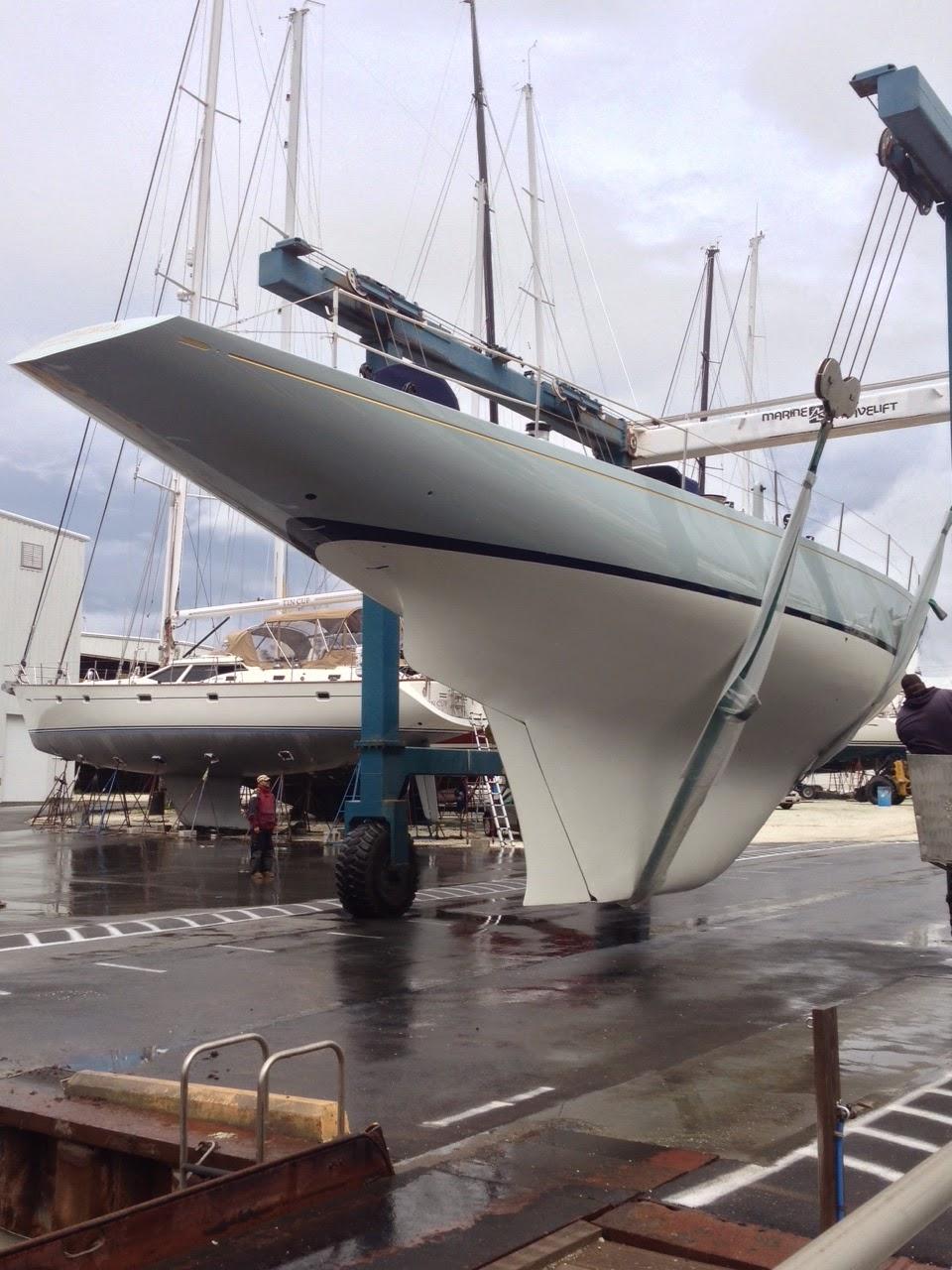 Boatyard Update Columbia Makes A Splash 12 Meter Charters