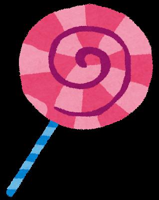 キャンディーのイラスト「ペロペロキャンディ」