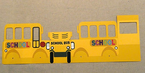 Needles N Knowledge School Bus Box Card Assembly Tutorial