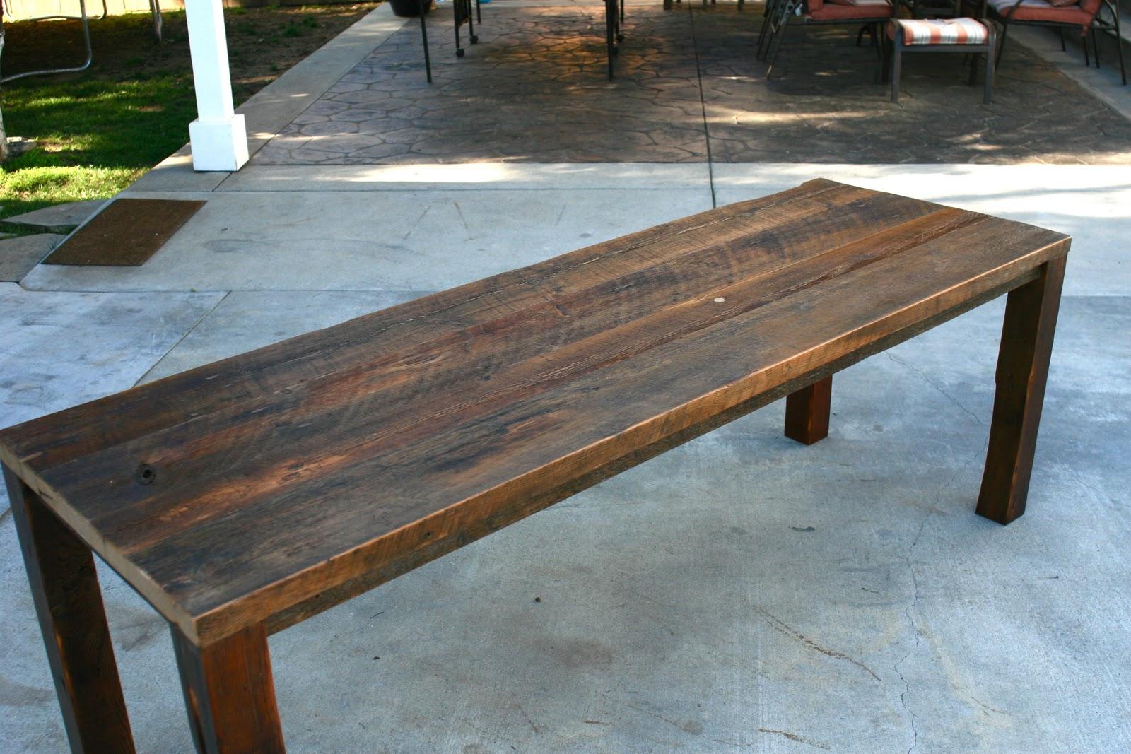Arbor Exchange Reclaimed Wood Furniture 7 39 Outdoor Hemlock Table