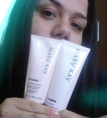 TimeWise da Mary Kay, o 3-in-1 Cleanser e o Age-Fighting Moisturizer