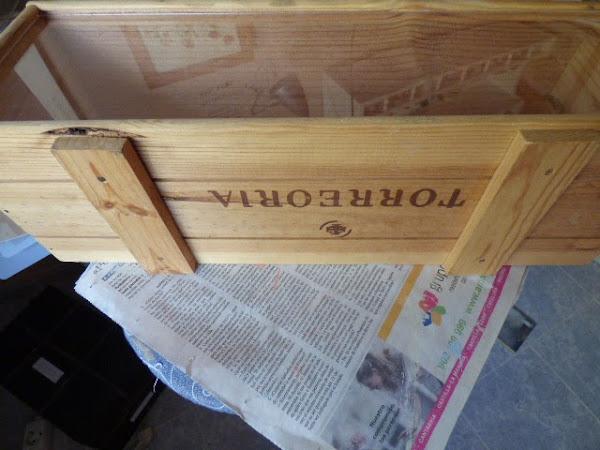 Caja madera decoupage servilletas aprender manualidades - Cajas madera manualidades ...