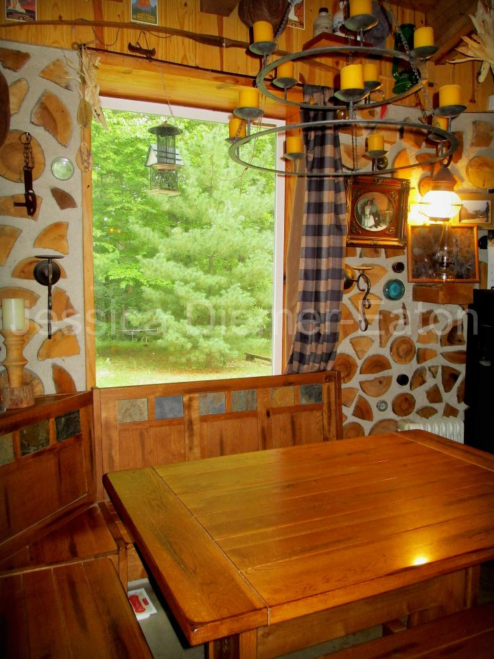 House of Fallen Timbers: Cordwood Masonry Home on cob homes design, log homes design, simple small house design, brick homes design, straw homes design, prefab round home design, yurt home design, earthship homes design, energy homes design,