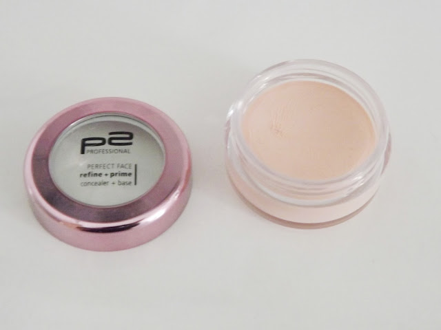 p2 perfect face refine + prime concealer + base in 030 rose