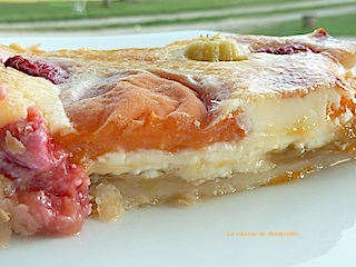 recette originale facile tarte abricots rhubarbe