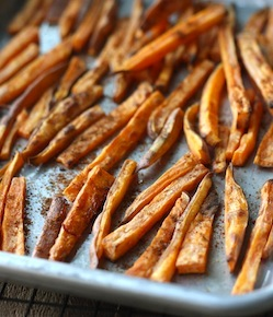 Sweet potato fries with japanese seven spice recipe
