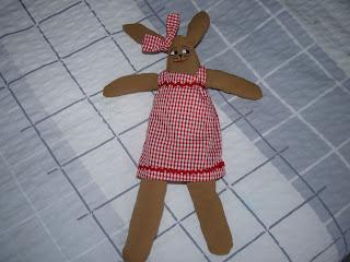 Coneja, conejo, trapo, Irene, muñecas de tela,cosas de Marga