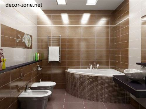 modern bathroom design ideas in a brown tone
