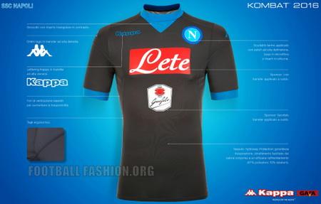 segunda equipacion Napoli futbol