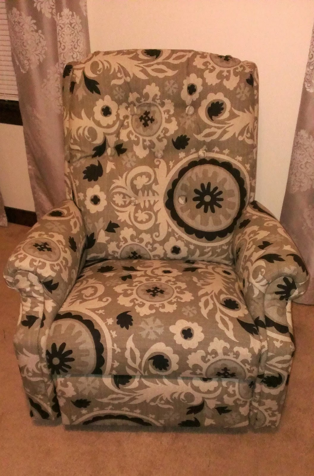 Re Covered Recliner