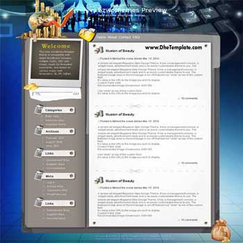 Wonderwall blogger template. converted WordPress to Blogger template.