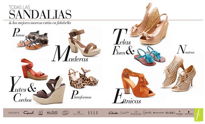 las sandalis!!!! y la primera en empezar fue Falabella!!!. Acá les dejo algunas de las hermosas sandalias que aparecen en su catalogo, las amé todas!