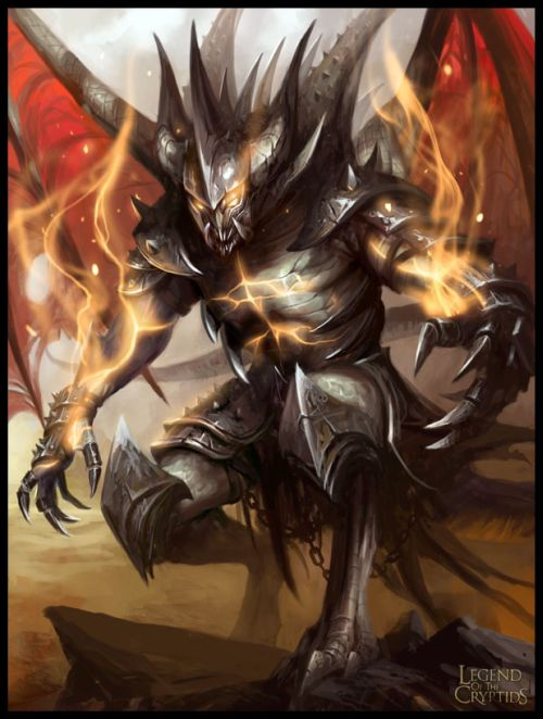 mike lim daarken ilustrações fantasia medieval violência batalhas monstros arte conceitual video games Demônio de ferro e fogo