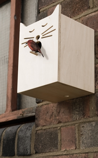 Suck UK - Sylvester Bird Box - John Caswell Design - Redekasse/fuglekasse med katte-motiv