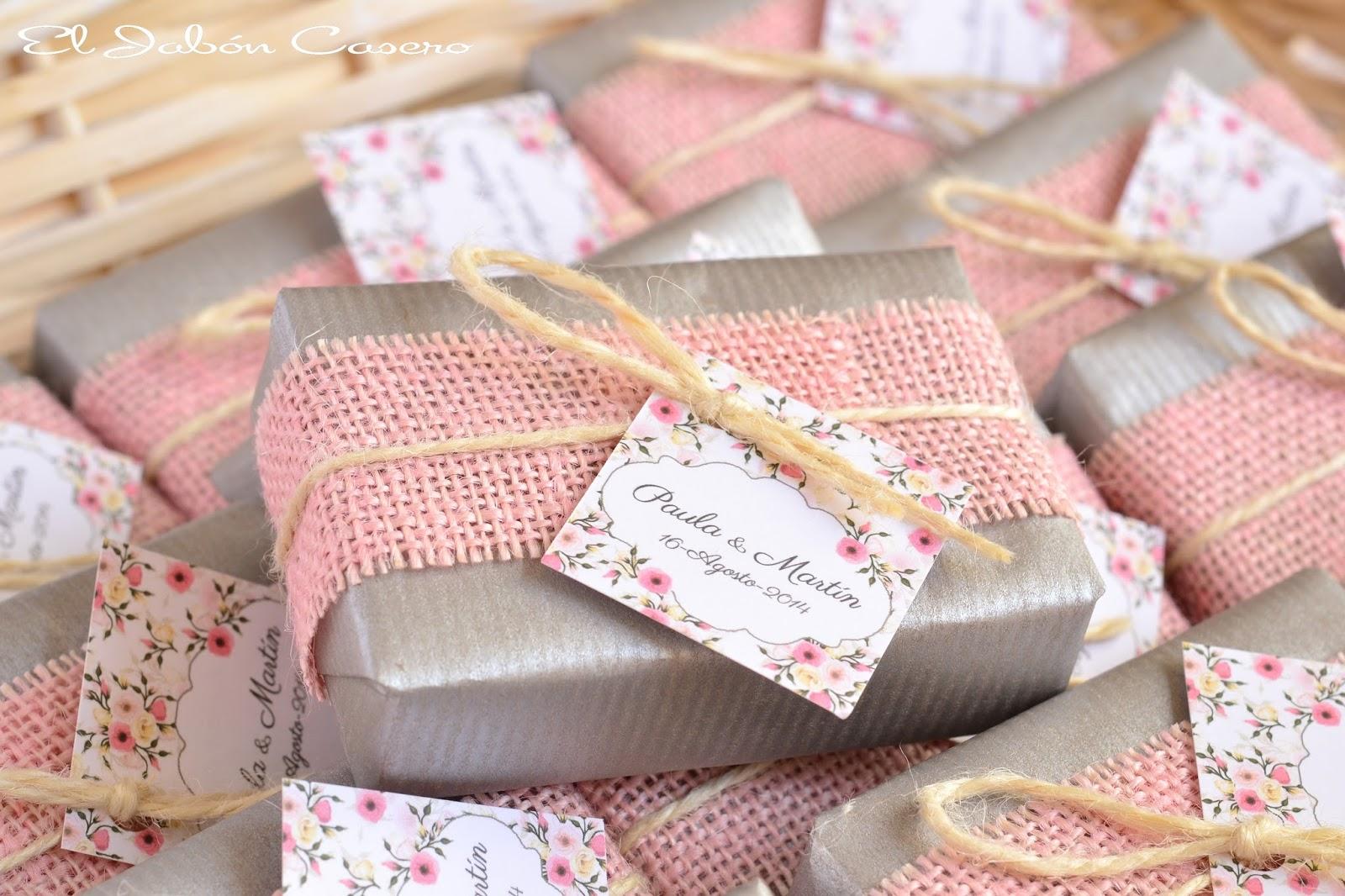 regalos para invitados jabones caseros