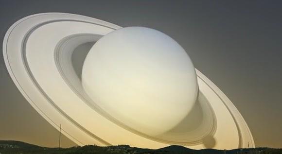 Beginilah Suasana Langit Jika Planet Saturnus Mendekati Bumi