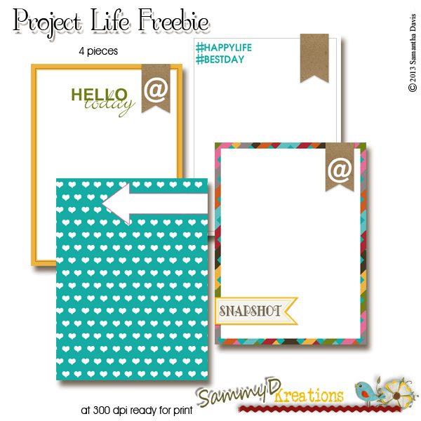 Project Life June 2013 plus a FREEBIE!!!