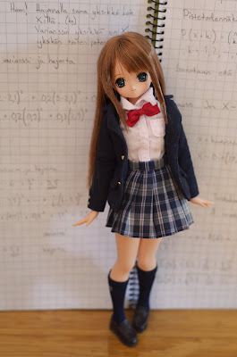 himeno in a school uniform