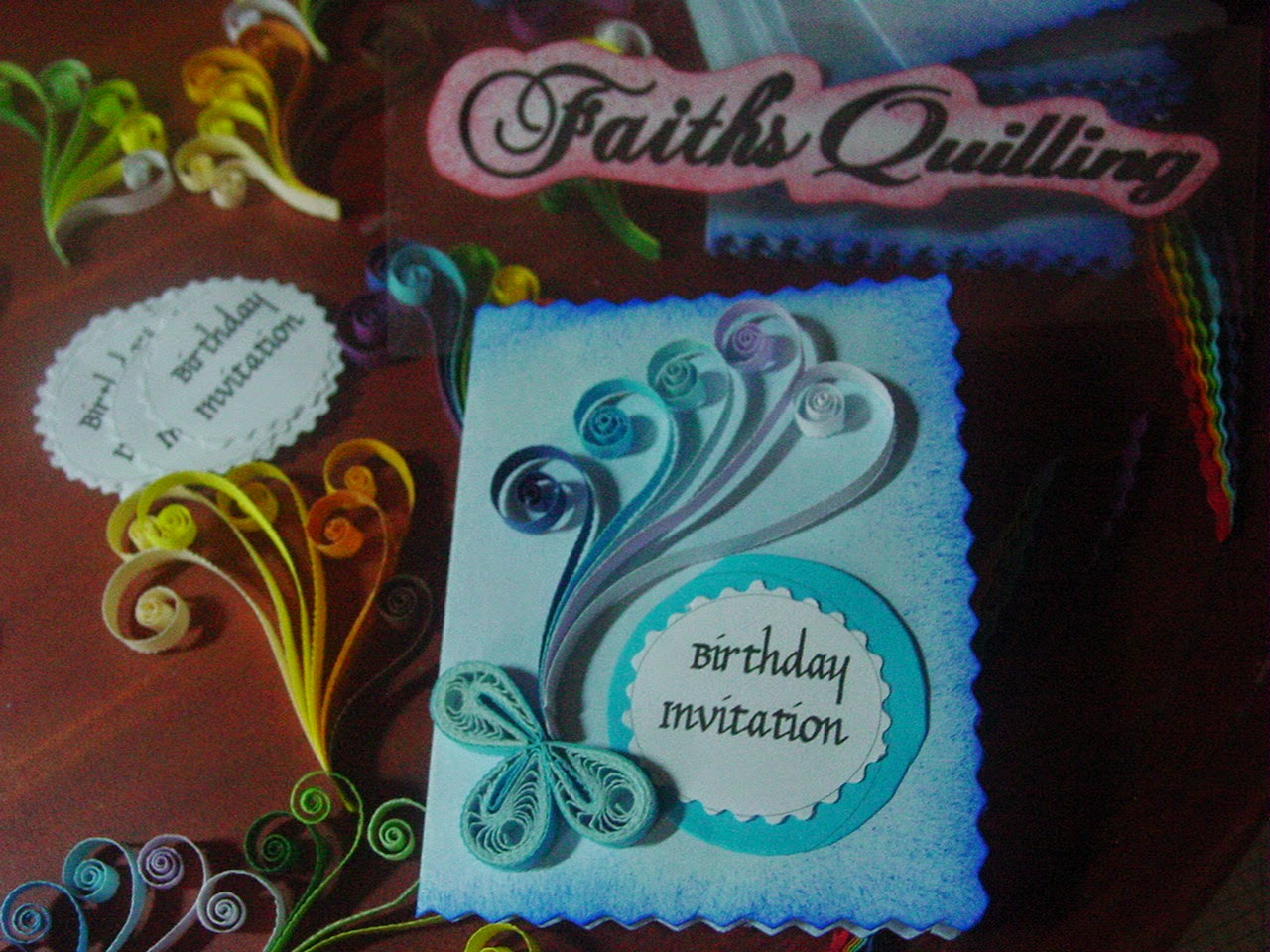 Faiths quilling birthday invitation cards these birthday invitation cards were made for a friend of mine for her sons 5th birthday stopboris