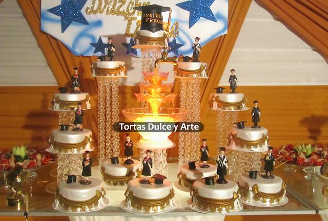 torta graduacion promocion toga birrete