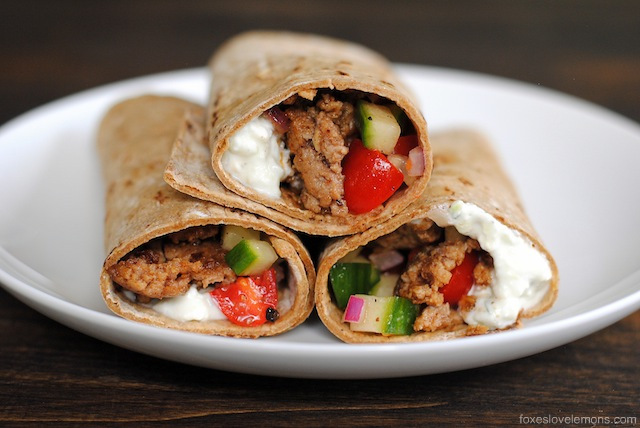 Greek Taco Wraps