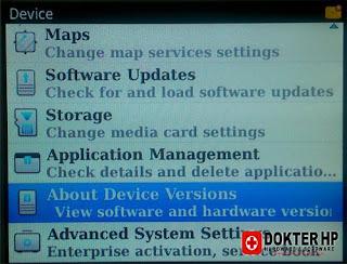 Cara Mengetahui Versi OS Blackberry