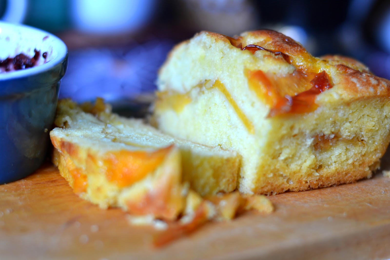 пирог из персиков