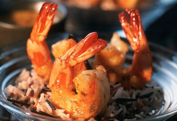 Crevettes Et Riz Sauvage