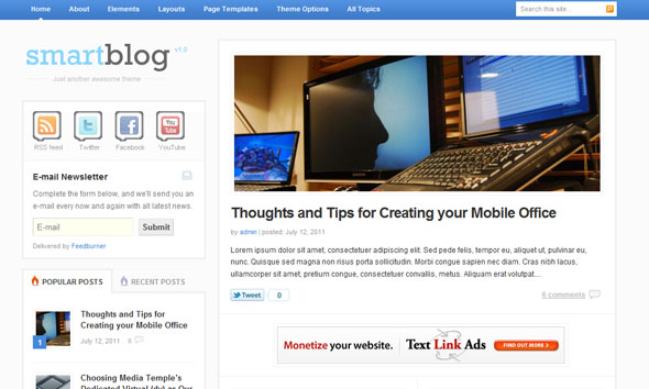 Smartblog Wordpress Theme Free Download by ThemeJunkie.