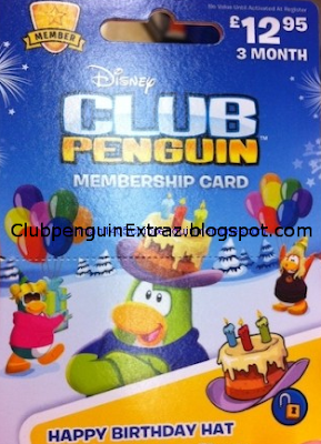 Club penguin new 3 month membership card april 2013 club for 6 month birthday decorations