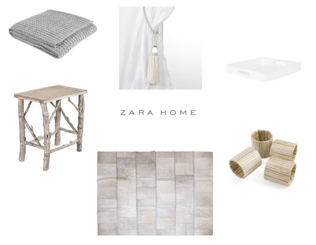 zara home, zara home US, cozy throw, twig side table, gold silver napkin rings, silver rug, tassle tie back, curtain tie back