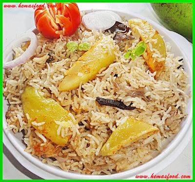 Raw Mango Biriyani