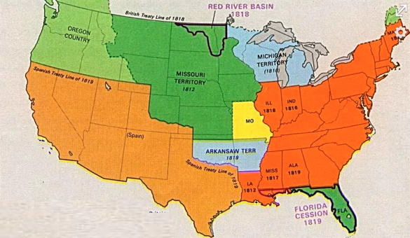 NephiCode The United States As The Land Of Promise Part I - Map of us territories in 1803
