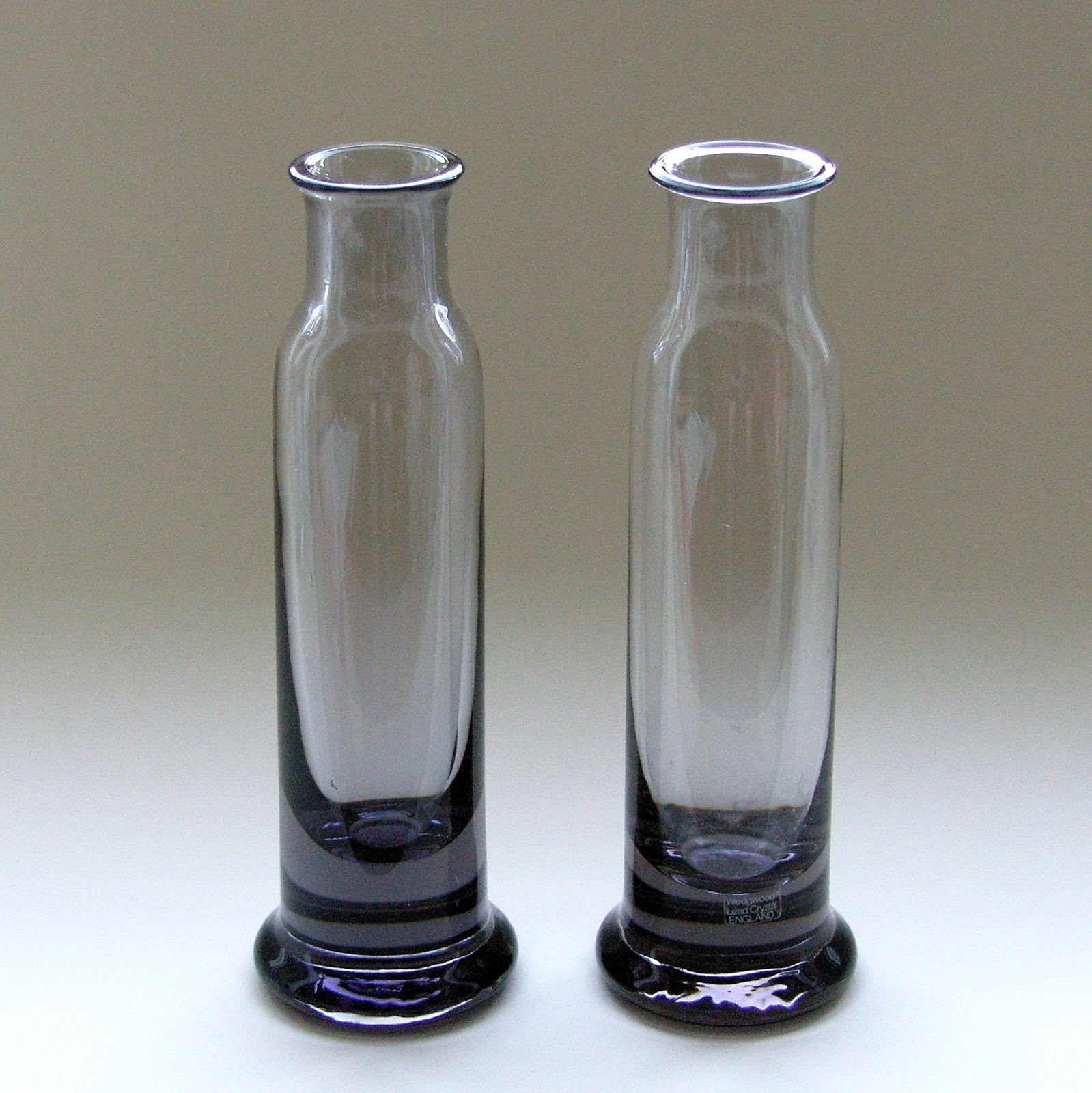 Frank thrower glass designs 1980s wedgwood crystal fjt3 adam single flower vase m m pair reviewsmspy