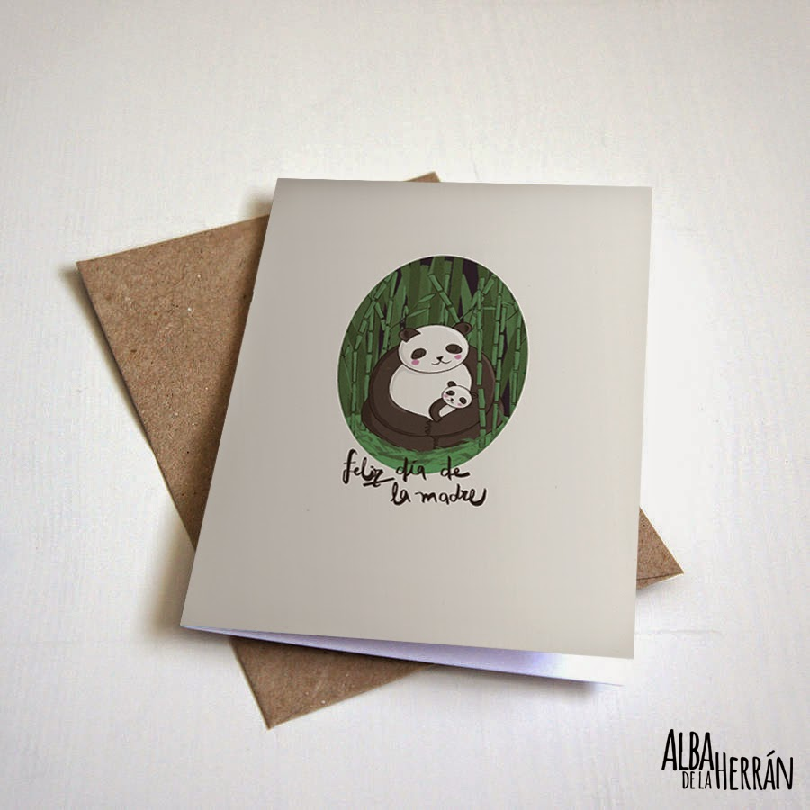 Greeting card panda