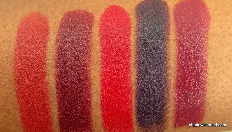 Top 5 Winter Lipsticks 2015 Swatches