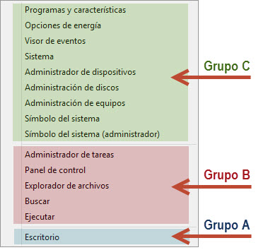 Modifica el menú de acceso rápido de Windows 8