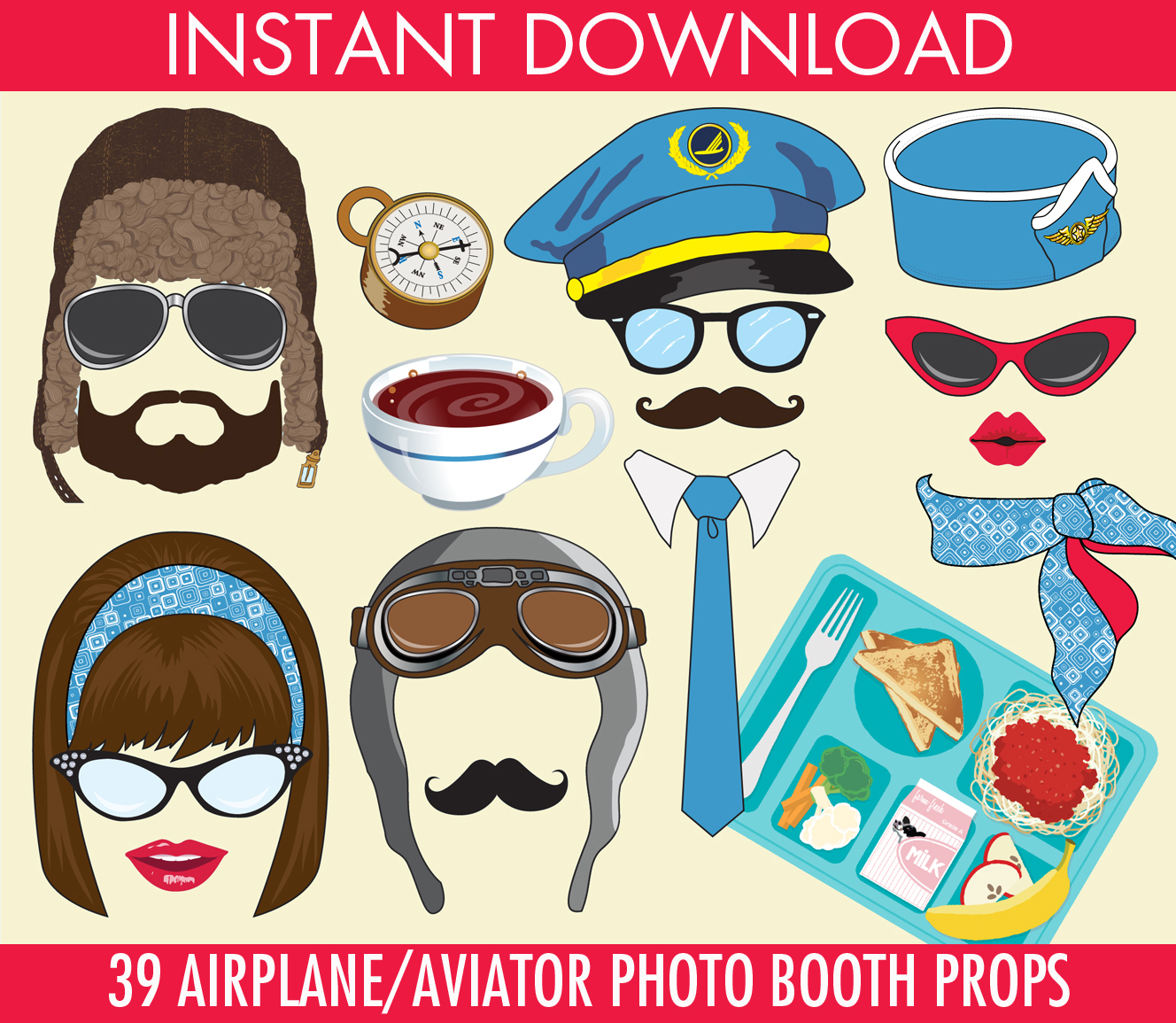 Airplane Photo Props