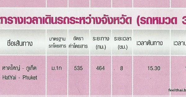 Hat yai to phuket bus timetable