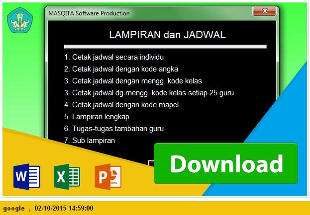 DOWNLOAD APLIKASI EXCEL JADWAL PELAJARAN SMP Tahun AJARAN 2015
