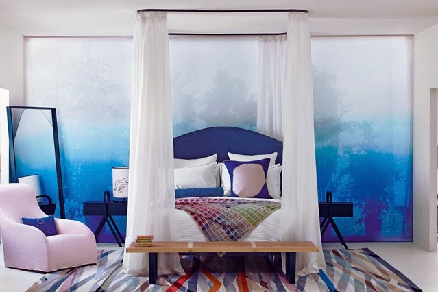 Beautiful modern bedroom decorating ideas with 20 designs - Blue bedroom wallpaper ideas ...