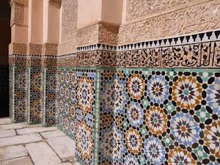 Zellige mosaic of Ben Youssef Madrasa