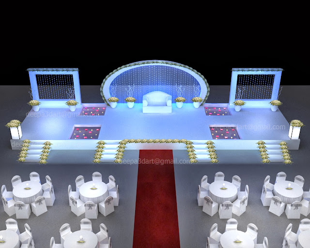 Deepa Varughes Wedding Stages Design