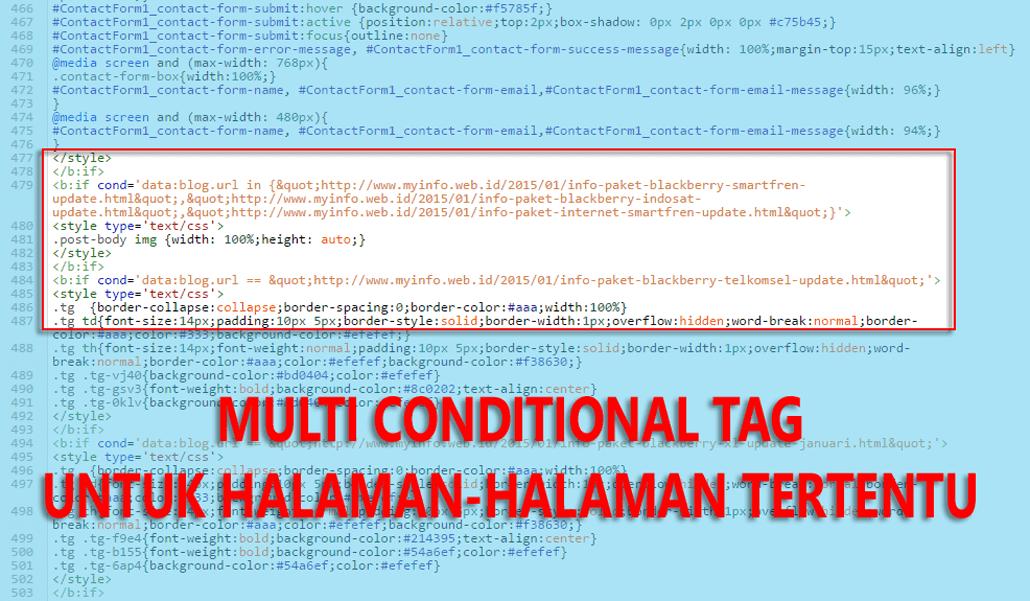 Multi Conditional Tags Untuk Halaman-halaman Tertentu Di Blogger
