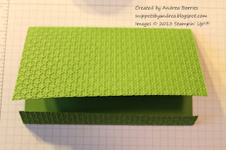 Folded green card base for crocodile card.